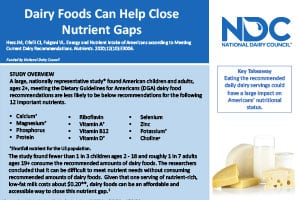 Dairy Foods Can Help Close Nutrient Gaps