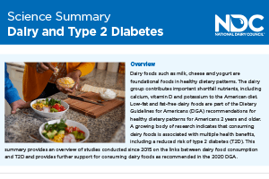 Science Summary: Dairy & Type 2 Diabetes