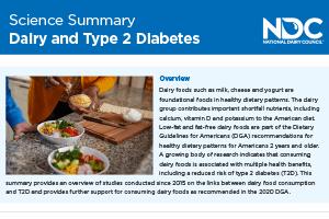 Science Summary: Dairy & Type 2 Diabetes