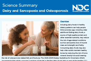 Science Summary: Dairy & Sarcopenia & Osteoporosis