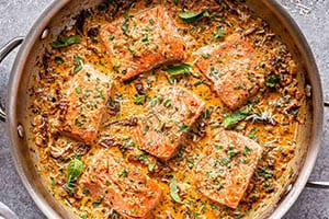 Creamy Sun-Dried Tomato Salmon