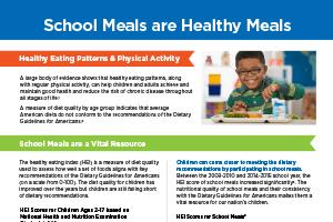 School Meals are Healthy