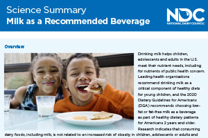 Science Summary: Milk as a Recommended Beverage