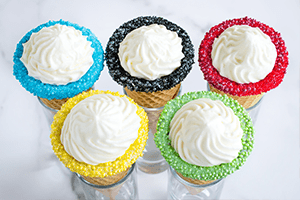 No-Bake Cheesecake Cones