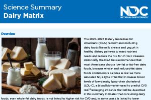 Science Summary: Dairy Matrix